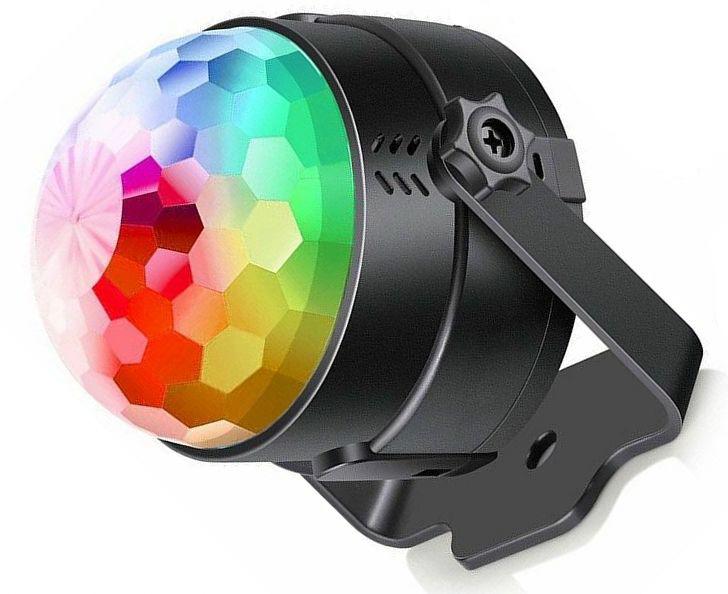 spinning rainbow lights