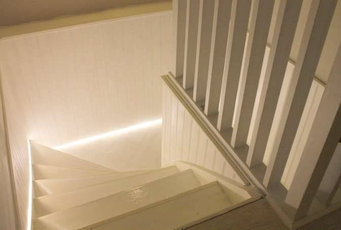 basement stairs LED lighting