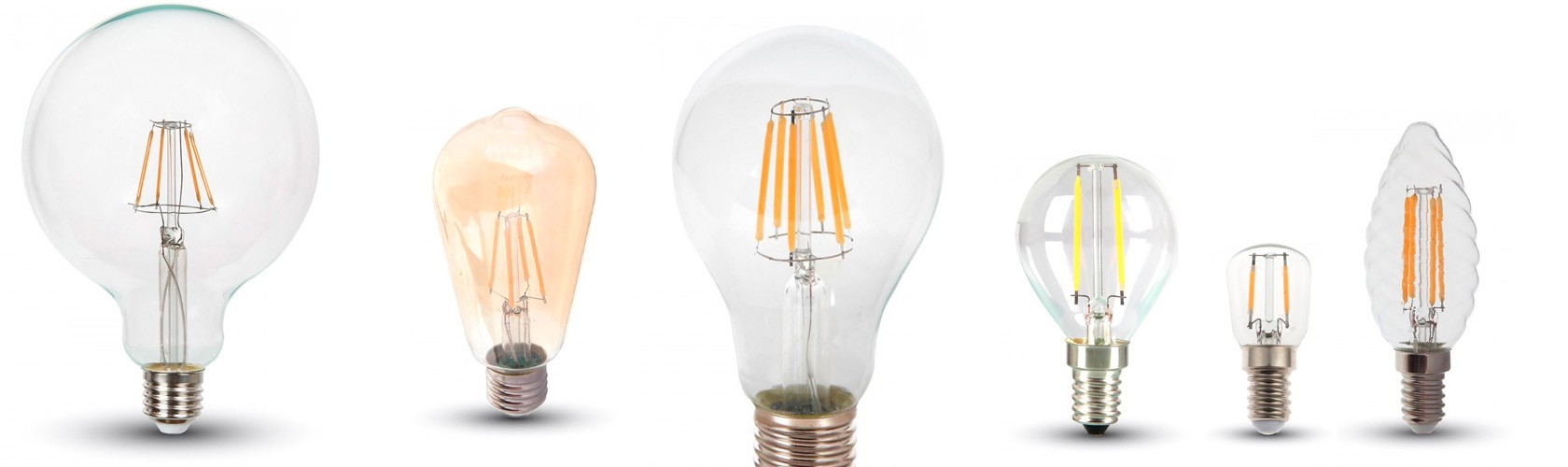 edison style LED light bulbs