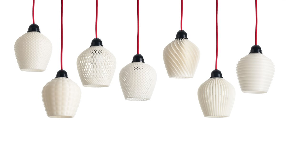 3D Printed Lamp Shades