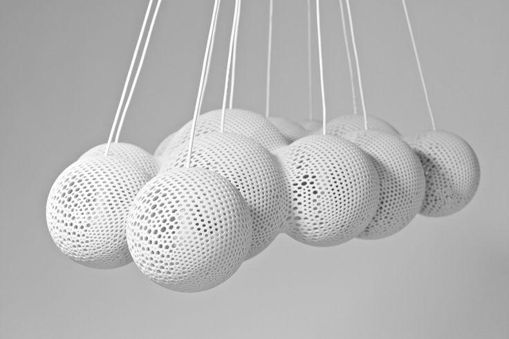 3D printed Cloud Light by Wieland Schmidt