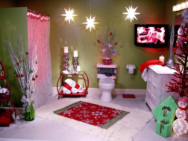 Bathroom Christmas Lights