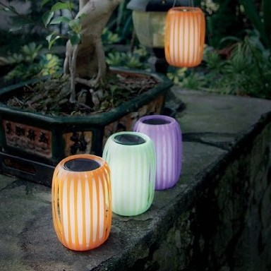 colorful solar lights