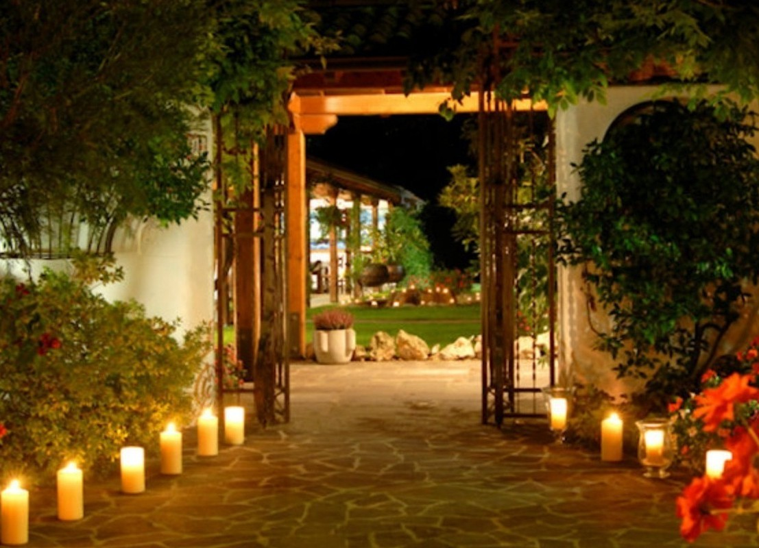 lighting pathways with candles