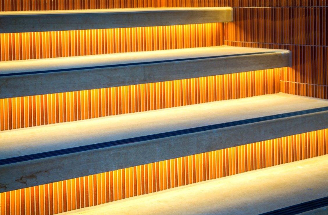 LED strip steps lights