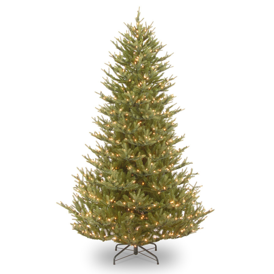 wrapping christmas tree with lights